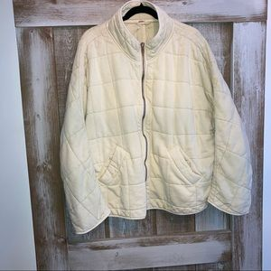 Free People Dolman Quilted Jacket, Size Large